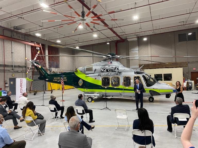 MDFR AW139 delivery ceremony